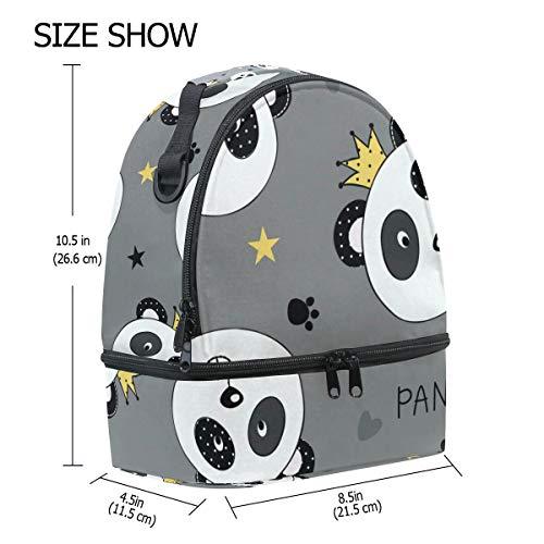 de aislante de la corona hombro con con para para panda Bolsa ajustable diseño pincnic almuerzo escuela el de Alinlo correa de qxpXwzFW