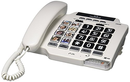 - ClearSounds CSC500 Amplified Landline Phone with Speakerphone and Photo Frame Buttons - Up to 40dB Amplification, T-Coil Hearing Aid Compatible