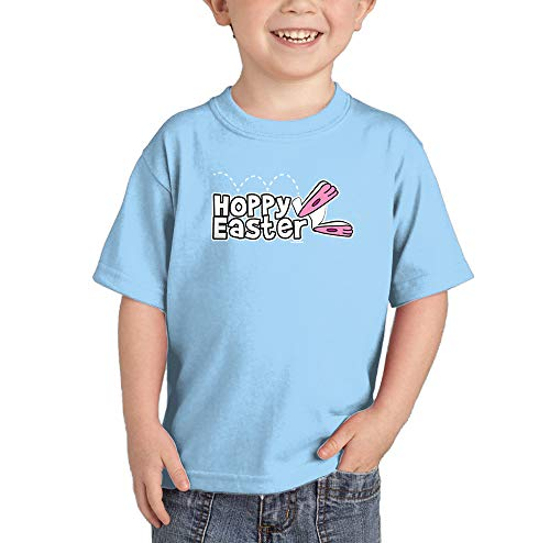 HAASE UNLIMITED Hoppy Easter - Happy Bunny Egg Infant/Toddler Cotton Jersey T-Shirt (Light Blue, 5T) -
