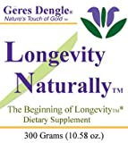 Geres Dengle® LONGEVITY NATURALLY(™) Anti-Aging Powder Mix. 300 Grams (3)
