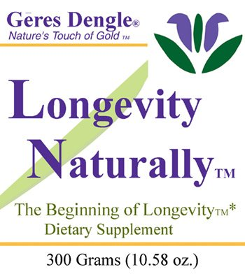 Geres Dengle® LONGEVITY NATURALLY(™) Anti-Aging Powder Mix. 300 Grams (3) by Geres Dengle