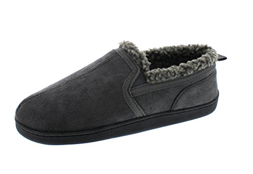 02c2fb07d Galleon - Gold Toe Norman Mens Memory Foam Bedroom Slippers,Indoor Outdoor  House Slipper For Men,Cozy Male Shearling Shoes Grey 12 US