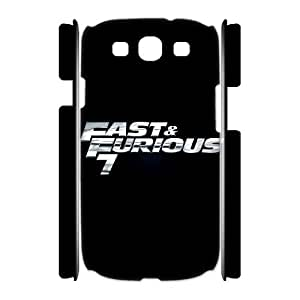 fast and furious Custom 3D Case for Samsung Galaxy S3 I9300, 3D Personalized fast and furious Case