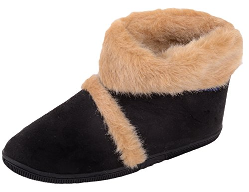 Mens Slip On Slippers / Boots / Indoor Shoes with Warm Faux Fur Inners 8 Us G5LOlf0