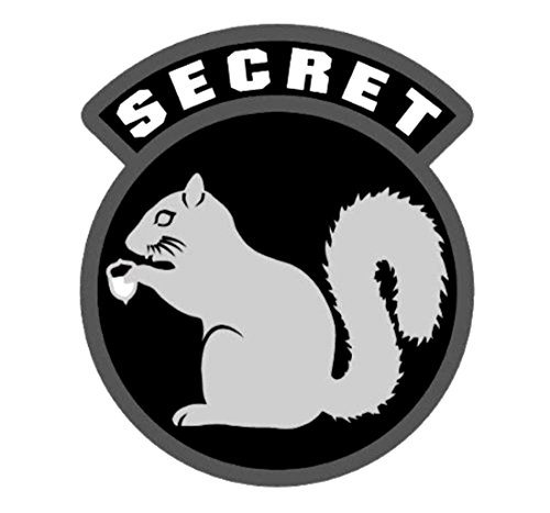 Milspec Secret Squirrel Vinyl Decal (SWAT (Black))
