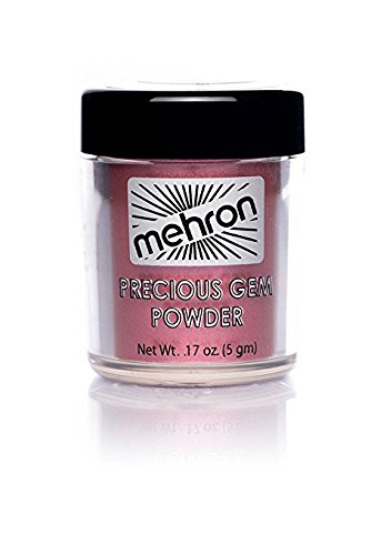 Mehron Precious Gem Glitter Powder 0.17 Oz | Silky, Bright Colors, Shimmering & Sparkling Loose Eyeshadow | For Face, Body & Nails | Add Intensity, Improve Looks & Create Dramatic Effect (Ruby)