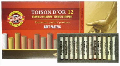 Koh-i-noor pastellkreiden Box Set di pezzi rotondi e morbidi, Toni del Marrone LLK reiden colori assortiti