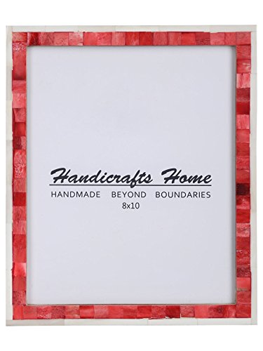Handicrafts Home 8x10 Picture Photo Frame Mosaic Art Inspired Vintage Wall Décor Gift Frames [8x10 RED] -