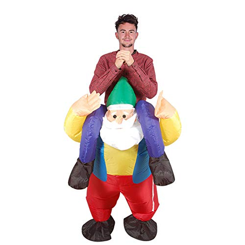 (MJY Inflatable Santa Costume Adults Funny Riding Fancy Dress Blow Up Costume Teens Christmas)