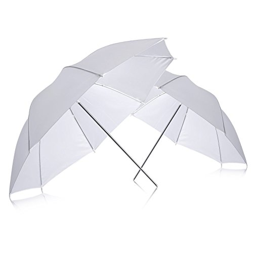 "Neewer (2) 33"" 83cm Photography Studio Flash Translucent White soft Umbrella"