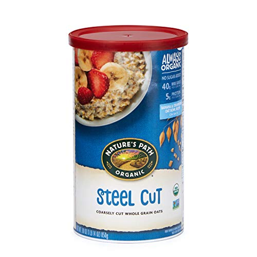 (Nature's Path Steel Cut Oatmeal, Healthy, Organic & Sugar Free, 1 Canister, 30 Ounces (Pack of 6))
