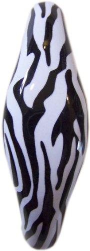 - Set of 2 Zebra Animal Print Ceramic Cabinet Drawer Pull Handles