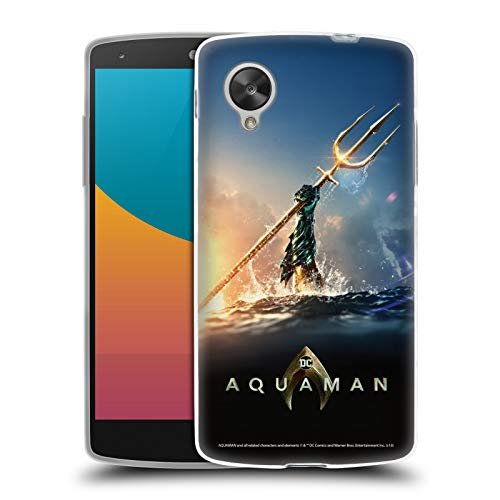 Official Aquaman Movie Trident of Atlan Posters Soft Gel Case Compatible for LG Nexus 5