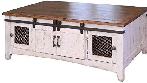 Cheap Crafters and Weavers Greenview White Solid Pine Coffee Table living room table for sale