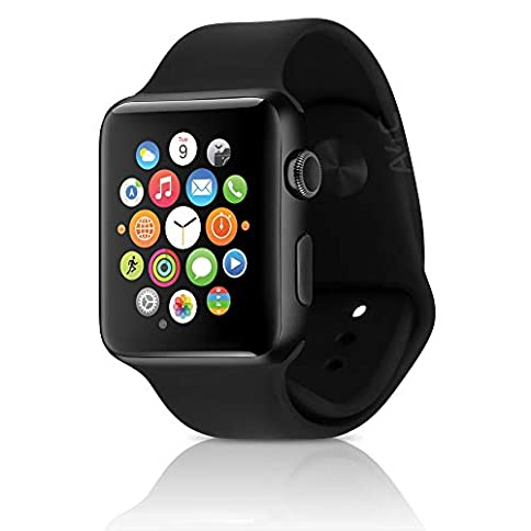 - 41NHmWW8rcL - Apple Watch Series 2 Smartwatch 42mm Space Gray Aluminum Case, Black Sport Band (Renewed)