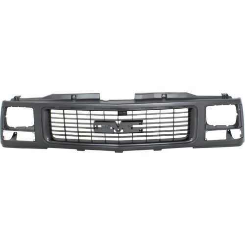 Grille Assembly Compatible with GMC C/K FULL SIZE P/U 1988-1993 Paint to Match with Single Sealed Beam Headlight Holes