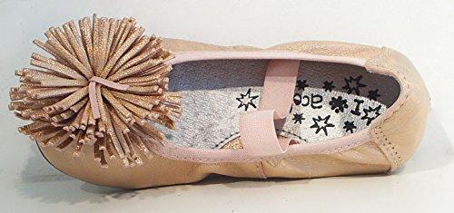 Acebo's Ballerinas Flats Leder lachs apricot metallic