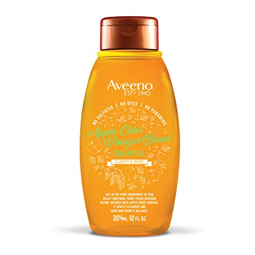 Aveeno Scalp Soothing Apple Cider Vinegar Blend Shampoo for Clarify and Shine, Sulfate Free Shampoo, No Dyes or Parabens, 12 fl. oz ()