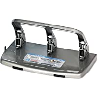 3-Hole Punch,40 Sheet Capacity,Large Waste Tray,Steel