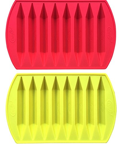 CrayOn 2 Double Tipped, Triangular Silicone Crayon Molds - Makes 16 Crayons (Total) by My Fruit Shack (Image #7)