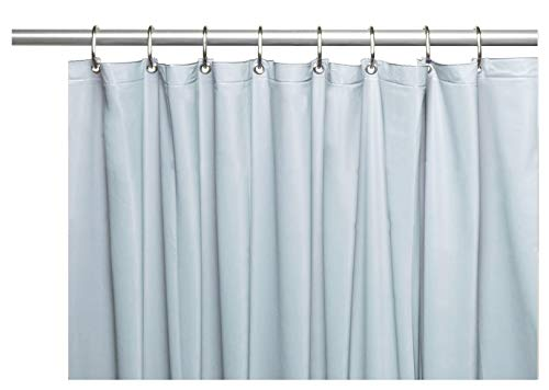 Venice Elegant Home Heavy Duty Vinyl Shower Curtain Liner with 12 Metal Grommets Light Blue