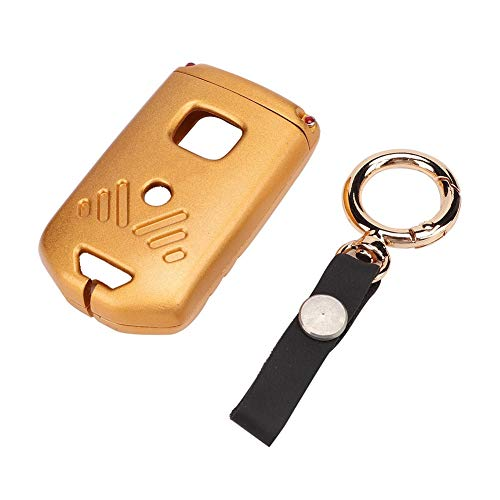 Suuonee Smart Key Case,Alloy Car Smart Key Case Cover Shell with Keychain Fit for Honda Accord Civic XR-C CR-V Odyssey