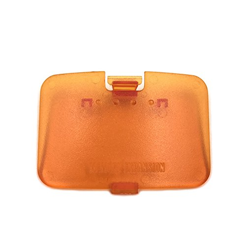 Memory Expansion Jumper Pak Pack Door Cover Lid Replacement Memory Cover Cover Jumper Pak Lid Door for Nintendo 64 N64 Console (Orange) from Fortune Cats