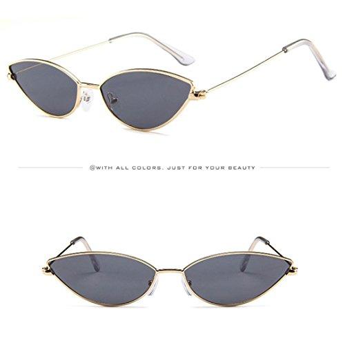 Gafas Sunglasses De Frame Keepwin Flat Sol Ultra Women B Lenses De Metal Gato Light Ojos Mujer Thin HFqnpqIZ