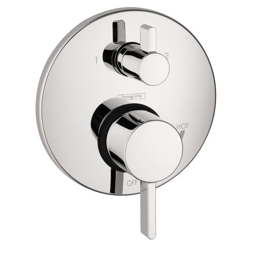 Pressure Balanced Tub Shower - Hansgrohe 4447000 S Pressure Balanced Valve Trim with Integrated Diverter, 5.51 x 7.75 x 10.75 inches, Chrome