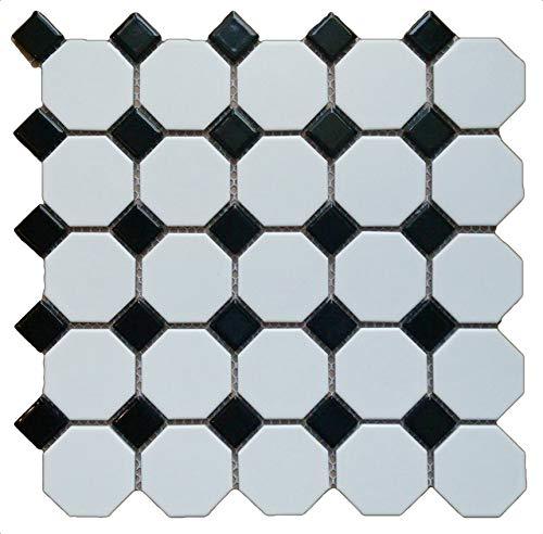 (1 Carton/10 SQFT | Black & White 2