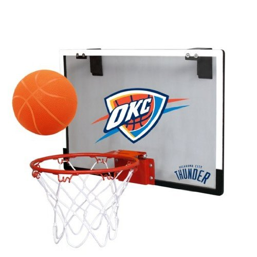 City Thunder Mini Basketball - NBA Oklahoma City Thunder Game On Indoor Basketball Hoop & Ball Set
