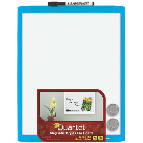 quartet-magnetic-dry-erase-board-11-x-14-inches-blue-frame-mhow1114-bu