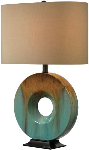 Kenroy Home 32184CG Sesame Table Lamp, 16'' x 16'' x 26'', Ceramic Glaze by Kenroy Home