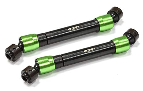 Integy RC Model Hop-ups C25526GREEN Billet Machined T2 Steel Main Center Drive Shaft (2) for Axial 1/10 Wraith