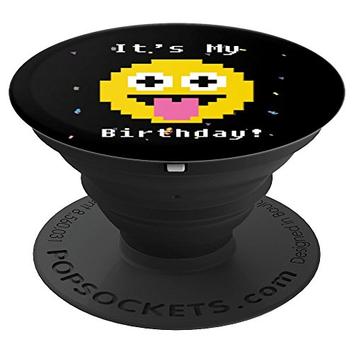 It's My Birthday Emoticon Gift - Happy Bday Party - PopSockets Grip and Stand for Phones and Tablets