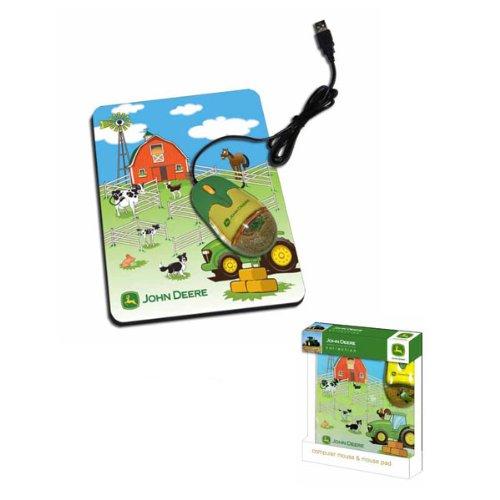 John Deere Liquid Optical Mouse with Pad (Farm (John Deere Farm Scene)