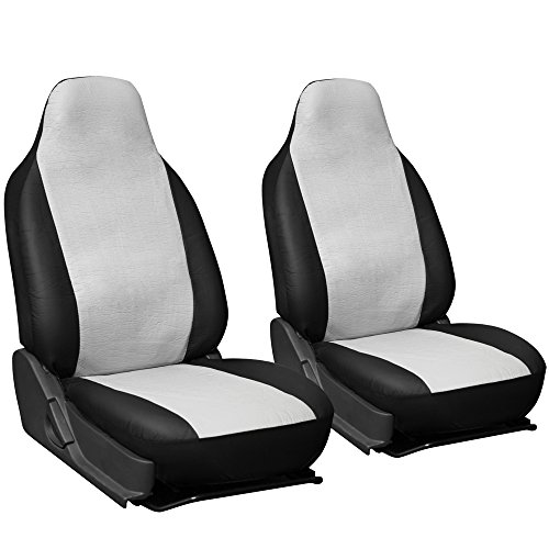 black and white bucket seats - 3