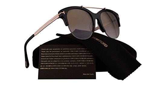 Tom Ford FT0517 Adrenne Sunglasses Dark Havana w/Brown Mirror Lens 52G - True Amazon Dark Glasses