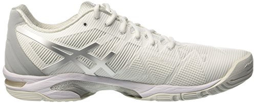 Asics Speed Tennis Donna Bianco Solution da White Gel 3 Silver Scarpe rfPqrxY