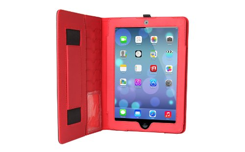 The Joy Factory SmartBlazer Business Folio Case for iPad Air and iPad 9.7 2017 - Black/Red (CFA206)