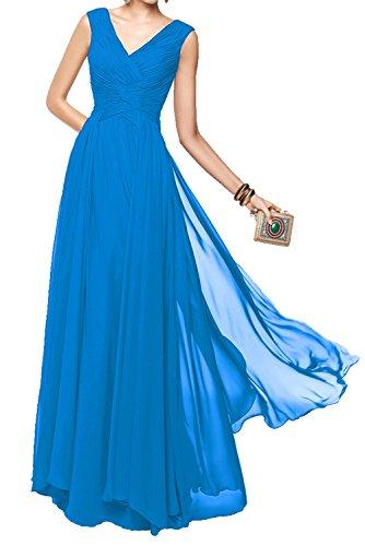 Promkleider Geraft Marie Blau Weinrot Chiffon La Brautjungfernkleider Abendkleider Langes Braut 7vqqaU