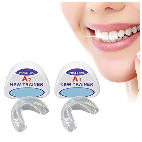 Orthodontic Trainer Retainer, Dental Mouth Guard Orthodontic Appliance,  Night Prevent Molar Braces, (2 Stage),A1+A2