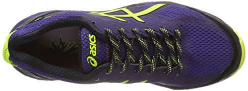 Asics Fujitrabuco 5 G TX, Chaussures de Running Femme Violet (Parachute Purple/Safety Yellow/Black)