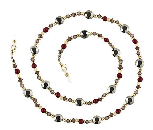 Beaded Glass Eyeglass Chain Holder Fashion Lanyard Necklace, Cleo ()