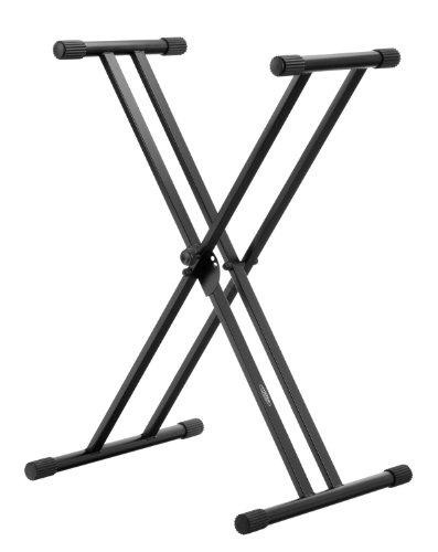 Classic Cantabile X-Keyboardständer Doppelstrebig (höhenverstellbar in 5-Stufen, klappbar, stabil, Schwarz)