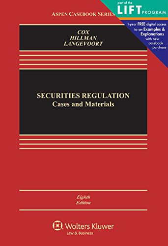Securities Regulation: Cases and Materials (Aspen Casebook) cover