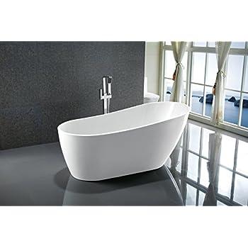 Vanity Art Bath Free Standing Acrylic Bathtub 669Wx315Dx283H