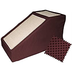 Domestic Pet Dog Ramps Burgundy Designer Stramp With Removable Cover Family