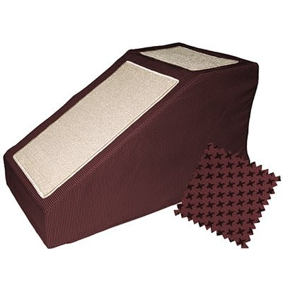 Domestic Pet Dog Ramps Burgundy Designer Stramp With Removable Cover Family Dog Training Ramp