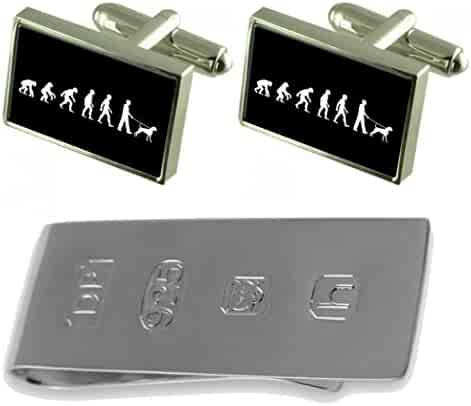 Select Gifts Evolution Ape to Man Bowls Sterling Silver Plated Cufflinks Boxed